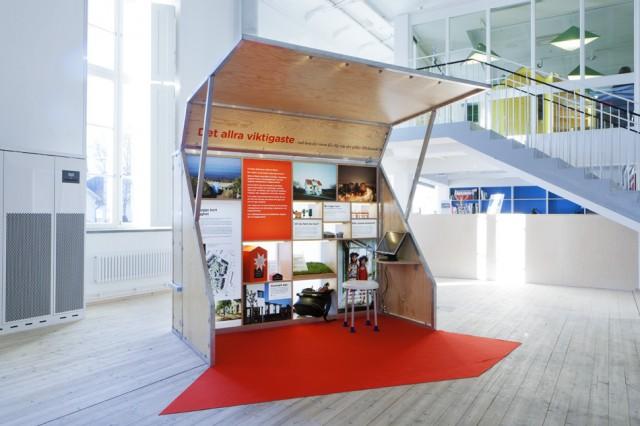 Vandringsutställningen Bo Bra på äldre dar om boendemiljö för äldre. Foto: Emma Fredriksson / ArkDes