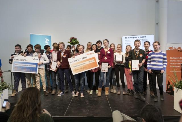 Future City är en ämnesöverskridande tävling för årskurs 6-9. I Future City möts skola och näringsliv för att bygga framtidens stad. Foto: Matti Östling / ArkDes