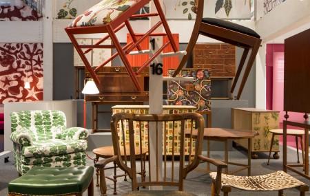 Furniture designed by Josef Frank for Svenskt Tenn. Photo: Matti Östling / ArkDes
