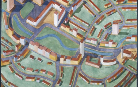 Stuyvesant Town. Sketch, cityplanning. ArkDes collections.