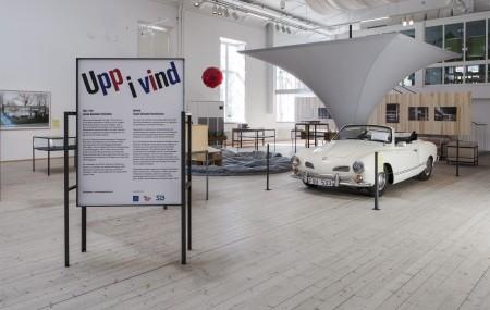 Bild från utställningen Upp i vind – Léonie Geisendorf arkitektur. Foto: Matti Östling / ArkDes
