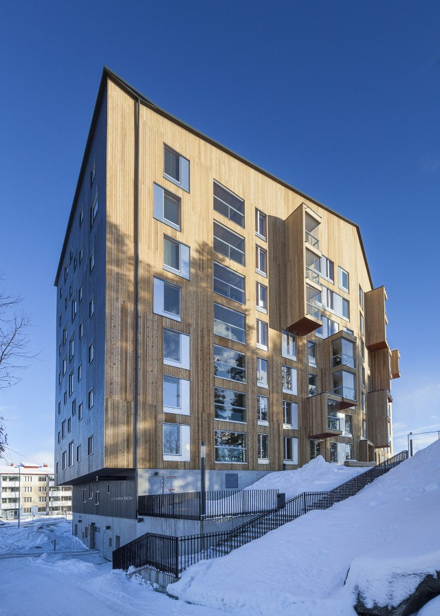 Puukuokka Housing Block in Finland. Architects: OOPEAA Foto: Mikko Auerniitty
