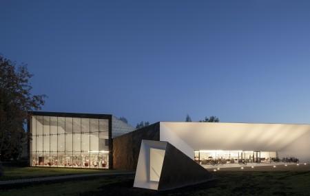 Seinäjoki stadsbibliotek i Finland. Arkitekt: JKMM Foto: Tuomas Uusheimo