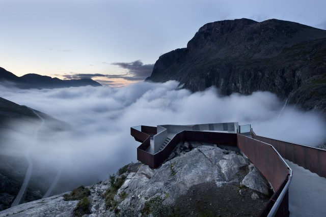 The National Tourist Route Trollstigen av Reiulf Ramstad Architects. Foto: Diephotodesigner.de
