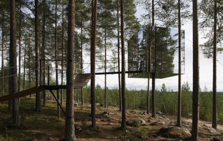 The Tree Hotel av Tham & Videgård Arkitekter. Foto: Åke E:son Lindman