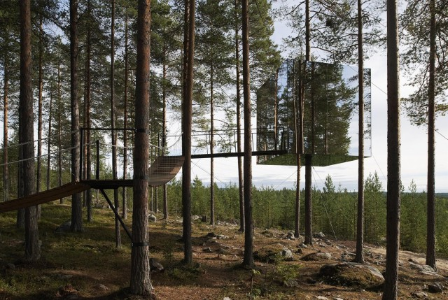The Tree Hotel av Tham & Videgård Arkitekter. Photo: Åke E:son Lindman