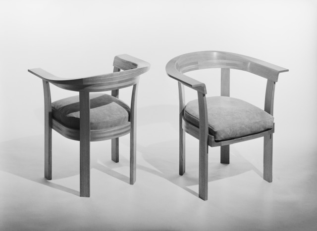 Chairs by interiorarchitect Stig Lönngren och master carpenters Lars Larsson. Photo: Sune Sundahl / ArkDes collection