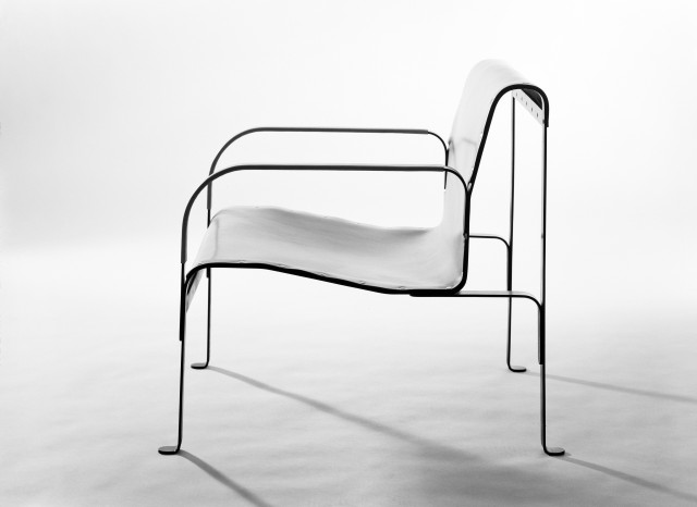 Chair by interior architect John Kandell and sheet metal master Holger Johansson. Foto: Sune Sundahl / ArkDes collections