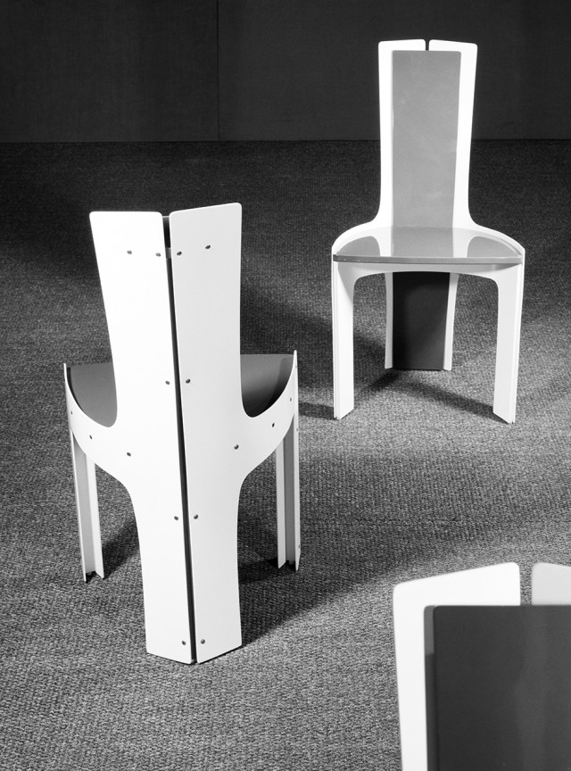 Chairs by interior architect Hans Johansson och master carpenter Anders Berglund. Photo: Sune Sundahl / ArkDes collections