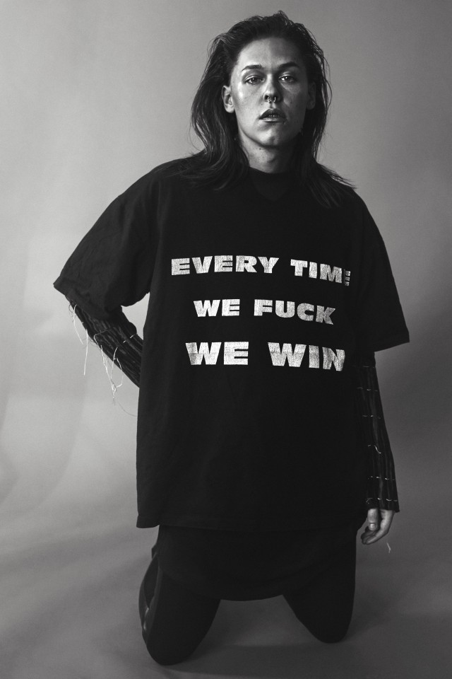 Every time we fuck we win. Designer: MYCKET, The New Beauty Council, Maja Gunn. Photo:  Angelina Bergenwall