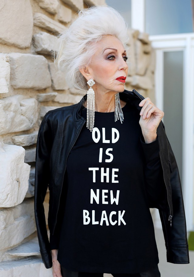 Old is the new black. Designer: Fanny Karst. Photo: Ari Seth Cohen