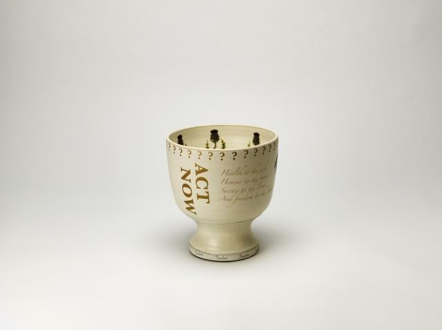 Från keramik till politik. Formgivare: Frida Hållander och Eva Szentiványi