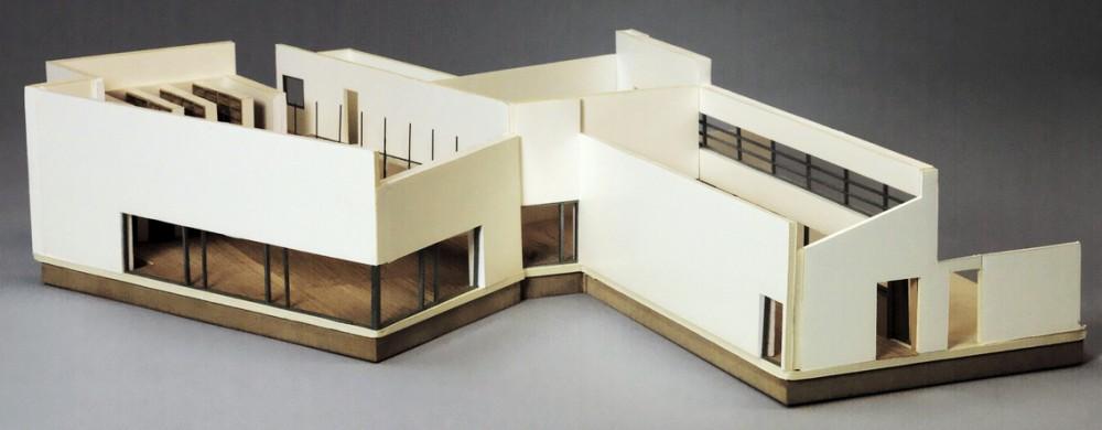 Modell av ArkDes museibyggnad