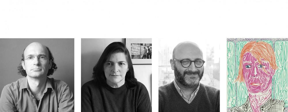Nikolaus Hirsch, Liza Fior, Behzad Khosravi Noori  och Maria Lind. Porträtt: Bernd Krauss