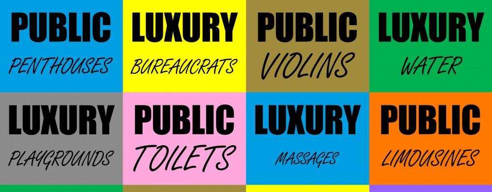 Affisch för Public Luxury.