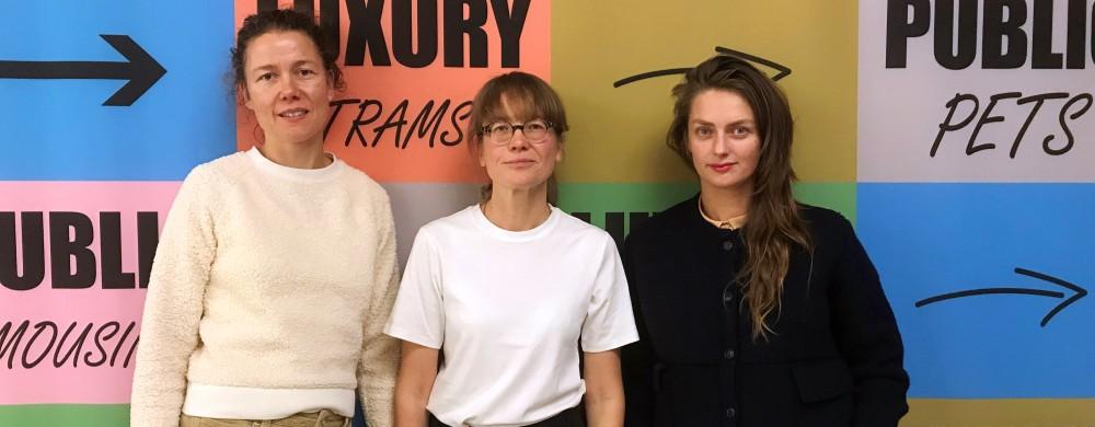 Från vänster: Anna Fridolin, Anna Pang och Teres Selberg.