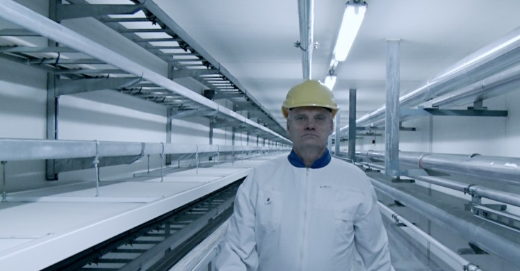 Ur filmen Into Eternity. A technician at Onkalo, a nuclear waste storage facility in Finland.