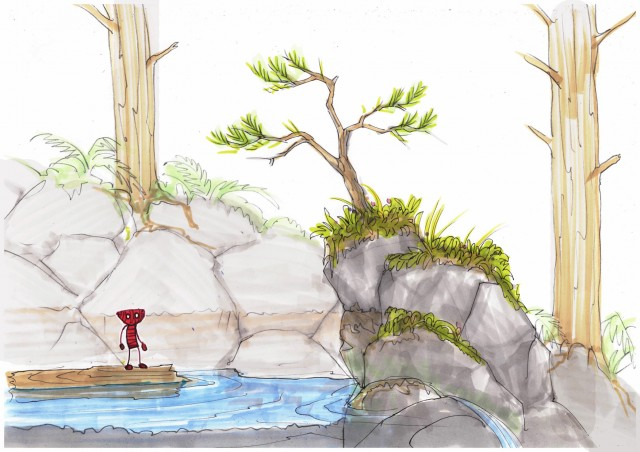 Concept sketch for Unravel titled