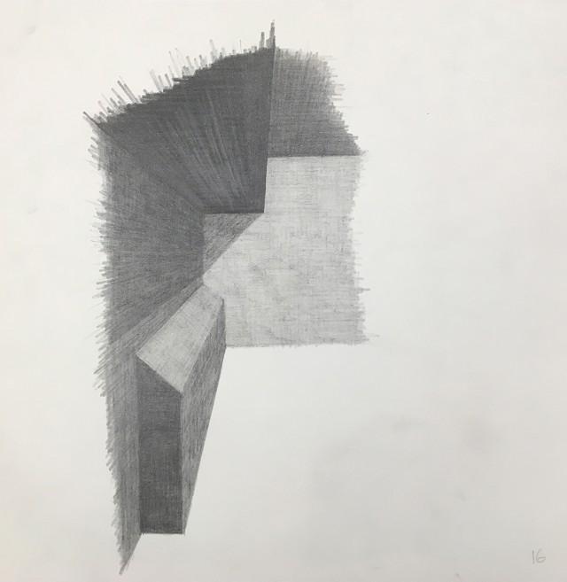 Ritning av 'Social Sculpture 9, Butt Shelf' (1998/2019) / John Lindell. Med tillstånd från konstnär.