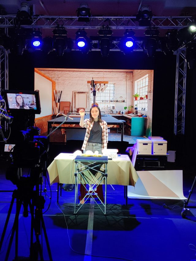 A live virtual ASMR performance created and led by Melinda Lauw (Whisperlodge). Photo courtesy of Melinda Lauw.