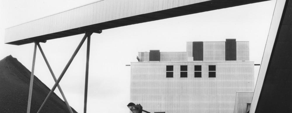 Gruvanläggning och vindflöjel i Svappavaara, 1964-1965. Arkitekt: Örjan Lüning. Fotografi: Rolf Dahlström.