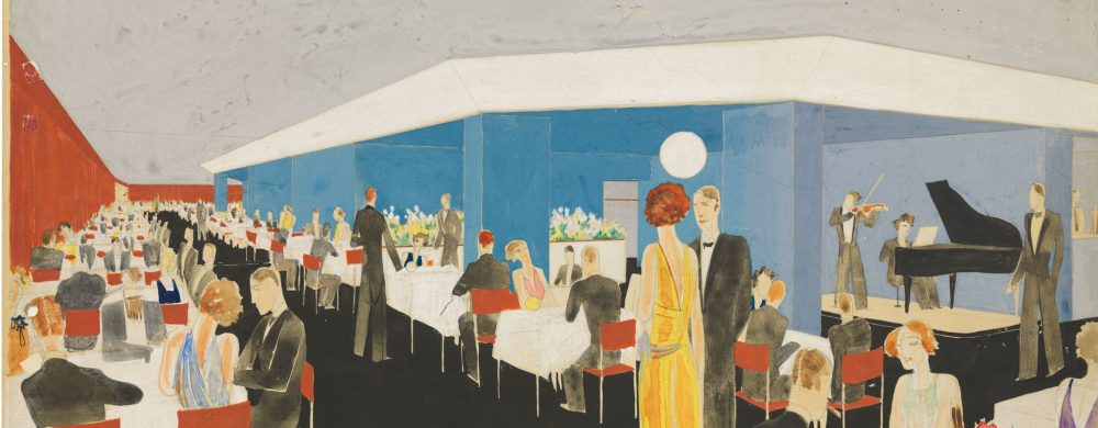 Sigurd Lewerentz's proposal for a restaurant at Sturegatan, 1930. Illustration: Sigurd Lewerentz/ArkDes.