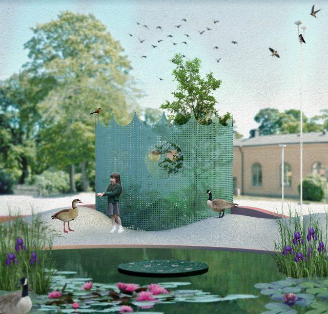 'Fragment' av 'Utomhusverket 2021'. Studio Ossidiana.